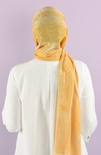 15114 Cotton Şal V1 15114 3Ywt 1 Sarı