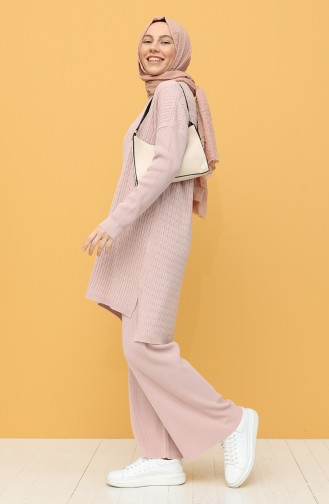 Triko Tunik Pantolon İkili Takım 4278-06 Pudra 4278-06