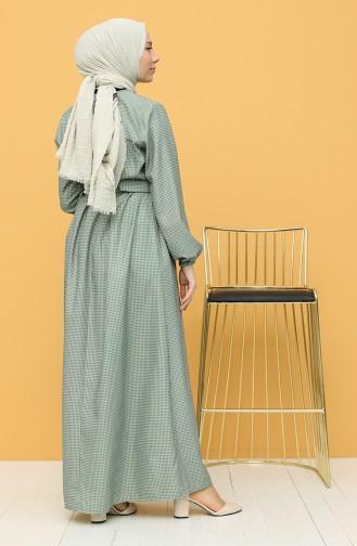 Khaki Hijap Kleider 21Y8233-04