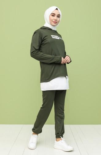 Khaki Jogginganzüge 2287A-01