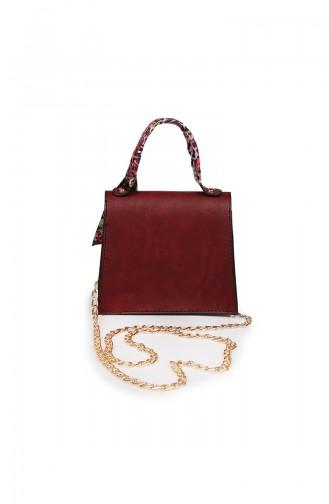 Claret red Shoulder Bag 217Z-01