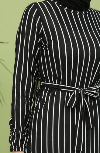 Schwarz Hijap Kleider 8895-01