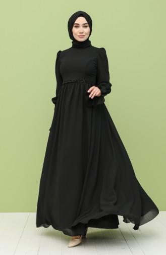 Black Hijab Dress 2148-01
