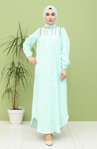 فستان أخضر فاتح 21Y8246-02