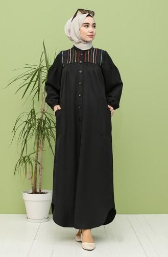 Schwarz Hijap Kleider 21Y8246-05