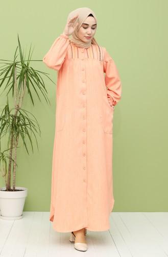 Orange İslamitische Jurk 21Y8246-06