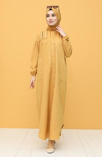 Mustard İslamitische Jurk 21Y8246-09