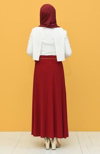 تنورة أحمر كلاريت 3011-01