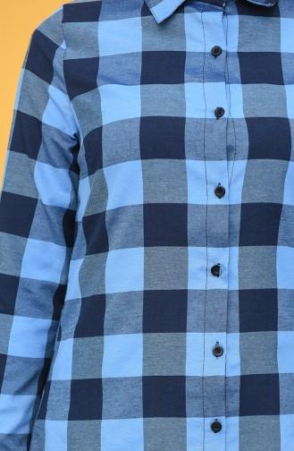 Kareli Tunik 6495-04 Lacivert Mavi