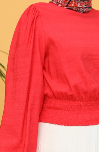 Rot Bluse 8303-09