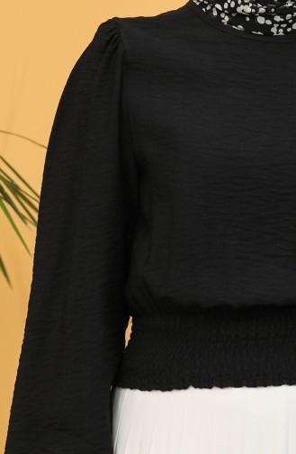 Gipeli Bluz 8303-10 Siyah 8303-10