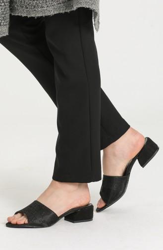 Black Summer Slippers 0526-27