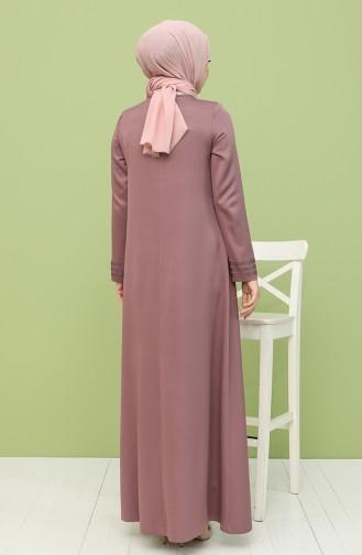 فستان زهري باهت 8289-04