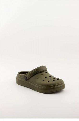 Khaki Summer slippers 3606.MM HAKI
