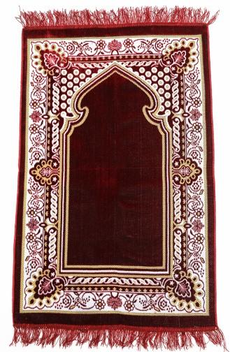 Claret red Praying Carpet 0002-01