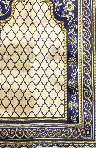 Navy Blue Praying Carpet 0003-04