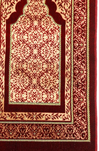 Claret red Praying Carpet 0012-01
