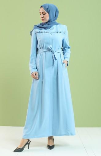 Abayas Bleu 0433-01