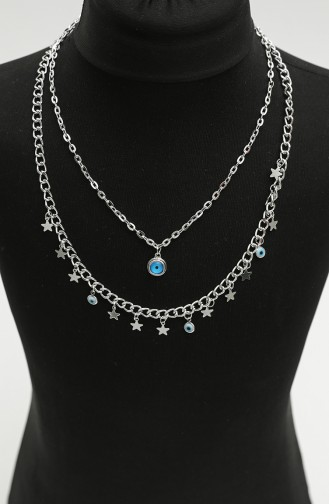 Silver Gray Necklace 0017-01