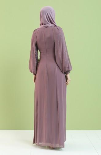 فساتين سهرة بتصميم اسلامي زهري باهت 4856-01