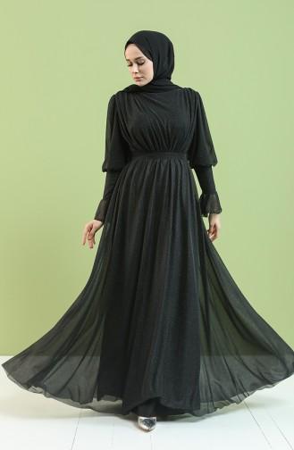 Schwarz Hijab-Abendkleider 5367-05