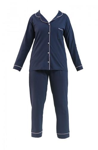 Dunkelblau Pyjama 2713-01