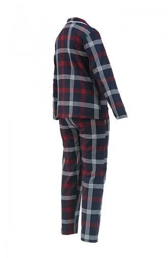 Dunkelblau Pyjama 2719