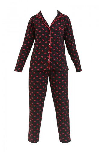 Schwarz Pyjama 2722