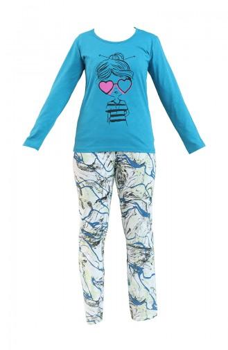 Türkis Pyjama 2740