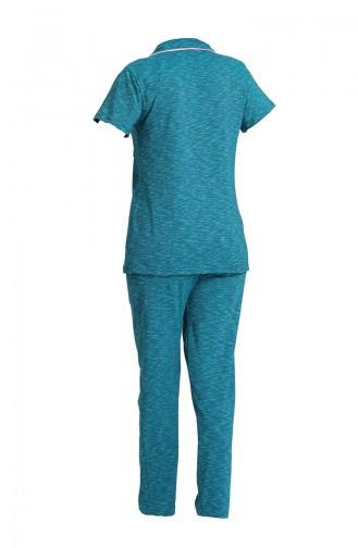 Türkis Pyjama 2814