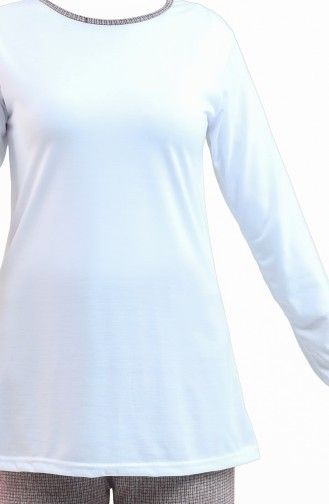 Weiß Pyjama 2620-01