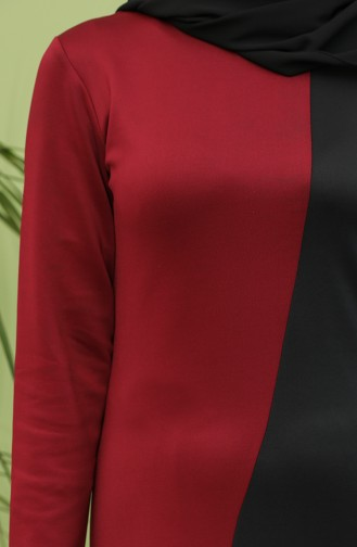 Robe Hijab Bordeaux 0001-01