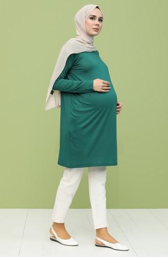 Tunika für Schwanger 0637-05 Smaragdgrün 0637-05