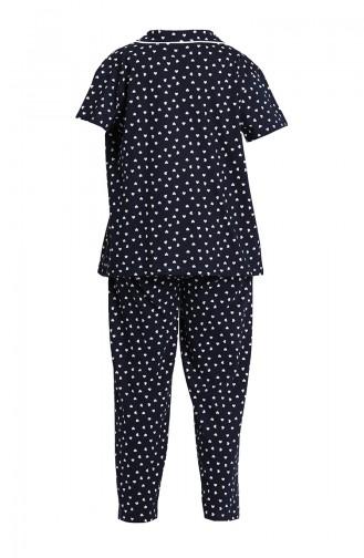 Dunkelblau Pyjama 202060-01