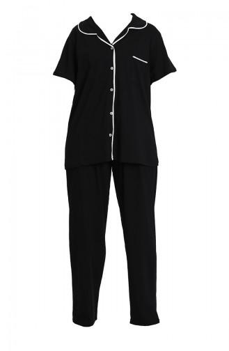 Schwarz Pyjama 202062-01