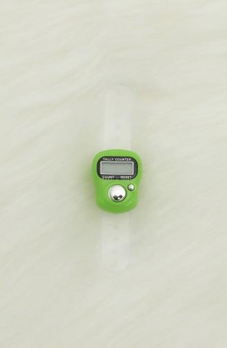 Dijital Yüzük Zikirmatik Tesbih 9977-02 Yeşil 9977-02