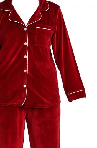 بيجامة أحمر كلاريت 1540-01