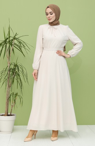 Robe Hijab Crème 4354-04