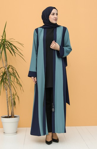 Oil Blue Abaya 0160-06