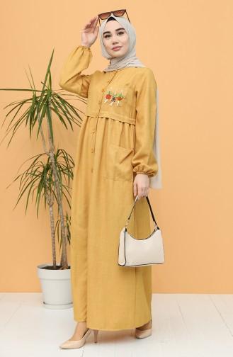 فستان أصفر خردل 21Y8239-03