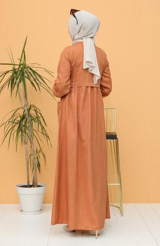 فستان قرميدي 21Y8239-05