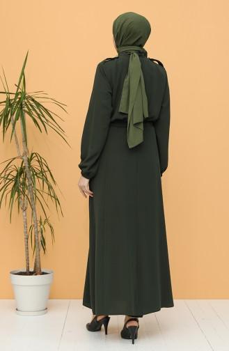Khaki Abaya 0142-01