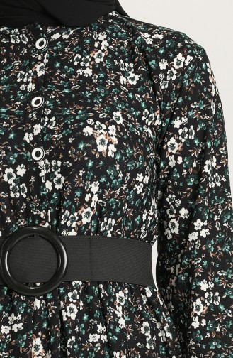 Emerald Green Hijab Dress 4400B-01