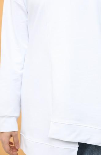 Boğazlı Tunik 2295-02 Beyaz