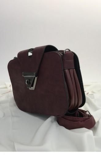 Claret red Shoulder Bag 000662.BORDO