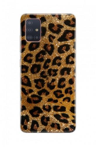 Leopar Tasarımlı Samsung Galaxy A51 Telefon Kılıfı Wl055