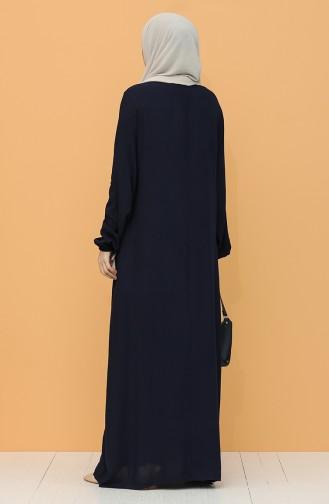 Robe Hijab Bleu Marine 8000-06