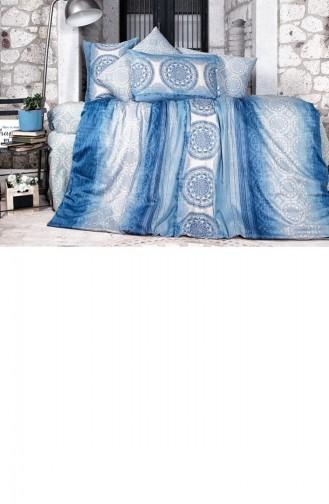 Clasy Çift Kişilik Saten Nevresim Takımı Colorada Mavi 8681727033155