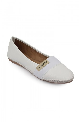 Bayan Espadril 8801-1 Beyaz