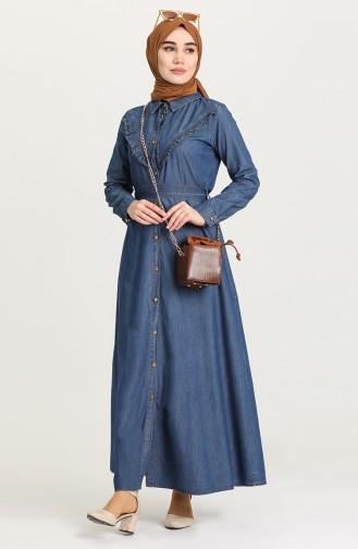 فستان أزرق كحلي 8232-02